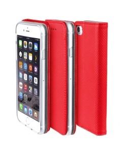 Samsung Galaxy A51 mágneses szilikon keretes könyvtok - PIROS