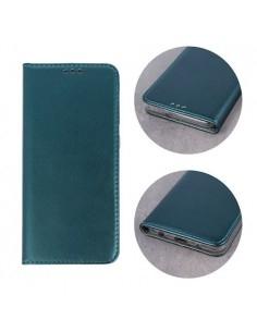 Smart Magnetic Samsung Galaxy A51 mágneses szilikon keretes könyvtok - ZÖLD