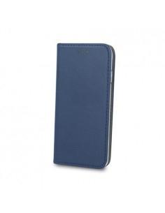 Smart Magnetic Samsung Galaxy A71 mágneses szilikon keretes könyvtok - KÉK