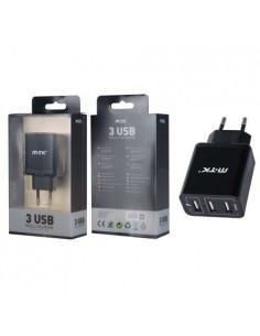 MTK K3620 fekete 3 USB fekete hálózati töltőfej 3.4A