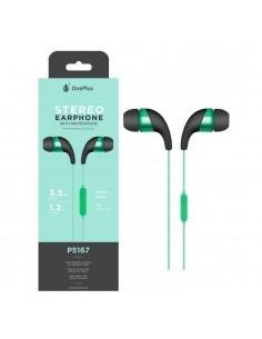OnePlus P5167 fekete-zöld csomagolt stereo headset