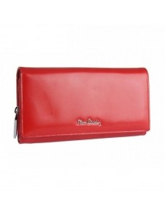 Pierre Cardin valódi bőr piros pénztárca - 19 x 11 cm