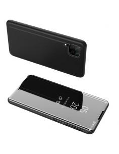 Flip telefontok átlátszó előlappal Huawei P40 Lite készülékhez - FEKETE