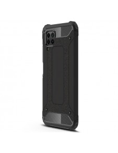 Kemény műanyag és rugalmas TPU hibrid tok Huawei P40 Lite telefonhoz - FEKETE