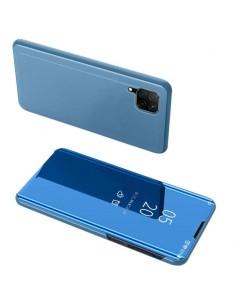 Flip telefontok átlátszó előlappal Huawei P40 Lite készülékhez - VILÁGOSKÉK