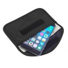 Térerő blokkoló tok, inkognitó telefontok 19,5 x 10,5 cm - FEKETE