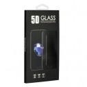 Full glue Samsung Galaxy A21s fekete hajlított 5D előlapi üvegfólia