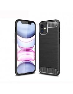 iPhone 12 mini karbon mintás tok - FEKETE