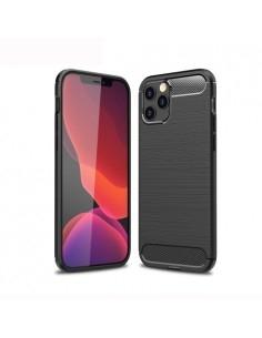 iPhone 12 / 12 Pro karbon mintás tok - FEKETE