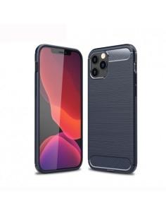 iPhone 12 / 12 Pro karbon mintás tok - KÉK