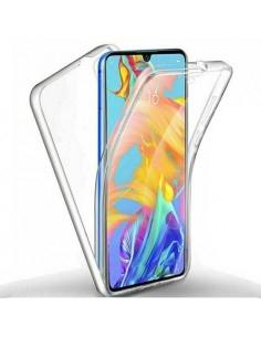 Rugalmas TPU tok elő + hátlapi Samsung Galaxy p40 lite készülékhez - ÁTTETSZŐ