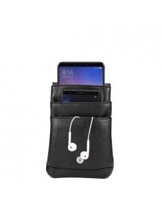 Vállra és övre is akasztható telefon tartó, táska - 18 x 12.5 cm - FEKETE