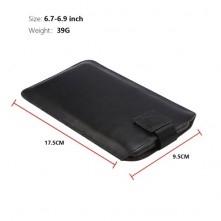 Övre fűzhető 6.7-6.9 inches univerzális telefontok, övtok kihúzóval - FEKETE
