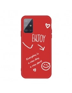 Rugalmas TPU tok Samsung Galaxy A71 készülékhez - ENJOY - PIROS