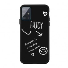 Rugalmas TPU tok Samsung Galaxy A51 készülékhez - ENJOY - FEKETE