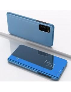 Flip telefontok átlátszó előlappal Samsung Galaxy A31 / A51 készülékhez - FEKETE