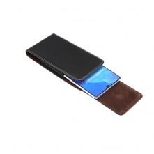 Övre fűzhető 6.9 colos univerzális telefontok, övtok mágneszárral - FEKETE
