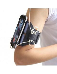 Univerzális 180 fokban forgatható karra csatolható tok futáshoz, sportoláshoz - 4.0-6.0 inch - FEKETE