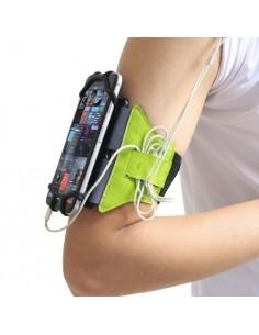 Univerzális 180 fokban forgatható karra csatolható tok futáshoz, sportoláshoz - 4.0-6.0 inch - ZÖLD