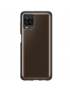 Samsung Galaxy A12 gyári Soft Clear Cover Tok EF-QA125TBEGEU - FEKETE