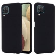 Rugalmas matt TPU tok Samsung Galaxy A12 készülékhez - FEKETE