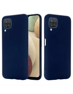 Rugalmas matt TPU tok Samsung Galaxy A12 készülékhez - KÉK