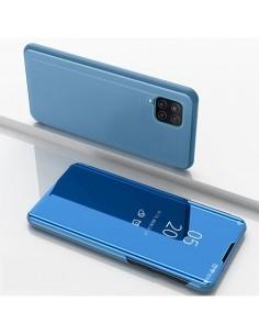 Flip telefontok átlátszó előlappal Samsung Galaxy A12 készülékhez - KÉK