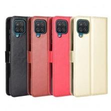 Oldalra nyíló tok Samsung Galaxy A12 telefonhoz - FEKETE
