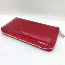 Patrizia Piu valódi bőr piros pénztárca - 19.5 x 10.5 cm - CB119RED