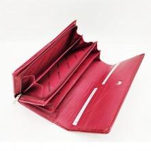 Patrizia Piu valódi bőr piros pénztárca - 19 x 10 cm - CB122RED