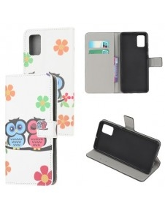 Oldalra nyíló mintás telefontok Samsung Galaxy A02s telefonhoz - BAGOLY