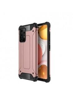 Kemény műanyag és rugalmas TPU hibrid tok Samsung Galaxy A72 5G telefonhoz - RÓZSAARANY