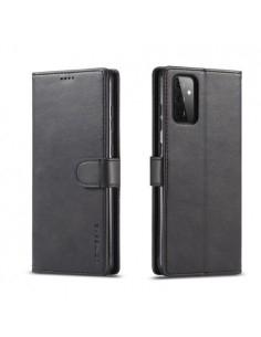 Oldalra nyíló tok Samsung Galaxy A72 5G telefonhoz - FEKETE