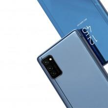 Flip telefontok átlátszó előlappal Samsung Galaxy A72 5G / A72 készülékhez - KÉK