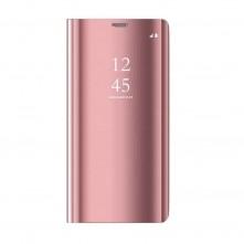 Flip telefontok átlátszó előlappal Samsung Galaxy A72 5G / A72 készülékhez - RÓZSAARANY