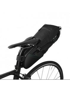 ROSWHEEL nagy kapacitású kerékpár nyeregre rögzíthető tok, hátizsák - 10L - 51x15 cm - FEKETE