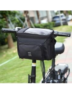 Kerékpár kormányra rögzíthető táska - 21.5x11.5x18.5cm - FEKETE