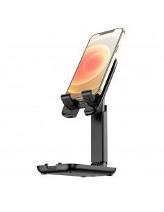 HOCO összecsukható állítható telefon, tablet tartó állvány - FEKETE