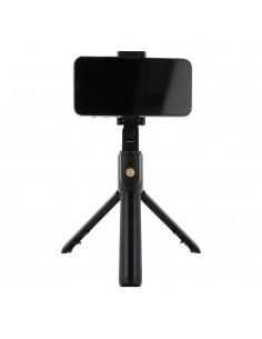 K07 szelfibot, és tripod egyben teleszkópos nyéllel Bluetooth vezérléssel okostelefonokhoz - FEKETE