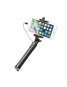 Szelfibot, Iphone készülékekhez teleszkópos nyéllel LIGHTING csatlakozóval - FEKETE