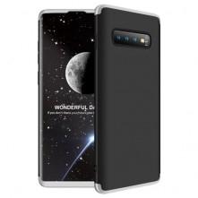 GKK három részes tok Samsung Galaxy S10 Plus készülékhez - FEKETE- EZÜST