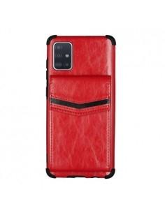 TPU plusz bőr háttok Samsung Galaxy A71 készülékhez - PIROS